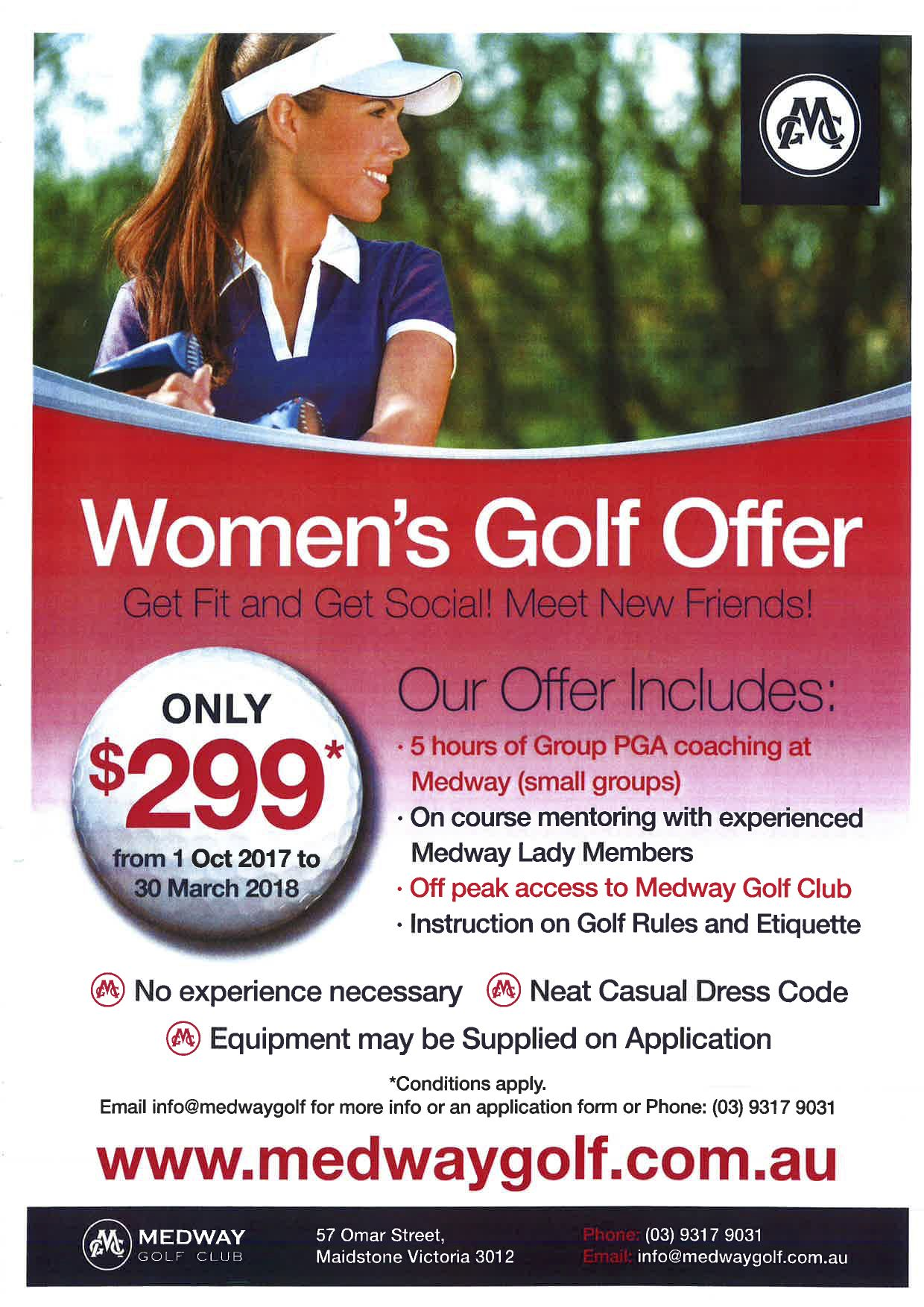 Women's Golf at Medway